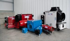 Heater selection available for hire from Cross Hire
