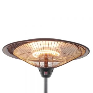 Infrared electric heater with two halogen lamps